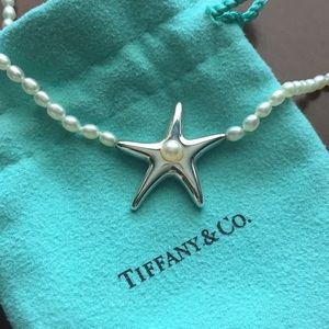 Tiffany Pearl starfish necklace